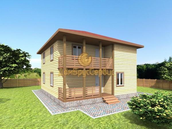 Каркасные двухэтажные коттеджи